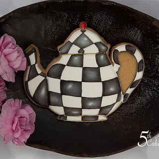MacKenzie-Childs Inspired Teapot Cookie 🍵💐