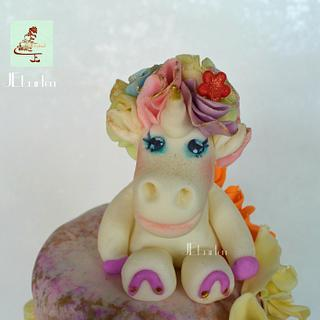 sweet unicorn caketopper