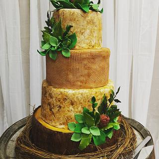 Rustic Texture Wedding Cake