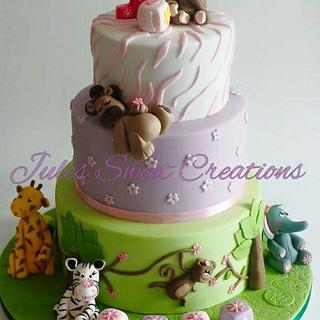 Jungle Themed Birthday Cake - Cake by Jules Sweet Creations