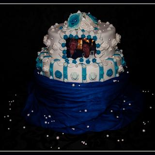 blue roses ... - Cake by Jacqueline