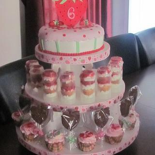 Strawberry Cupcake Tower