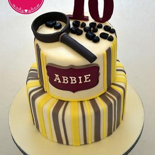 Mistery themed cake