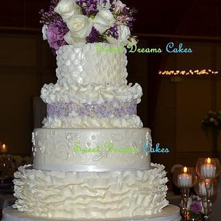 Wedding ruffle cake.