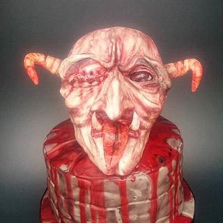 Demon Halloween cake