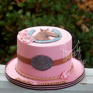 Horse theme birthday cake