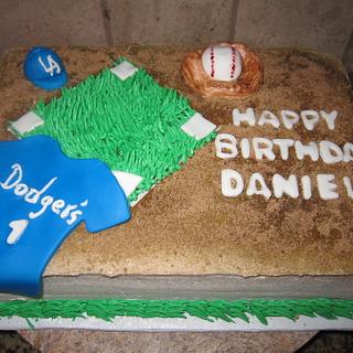Dodgers cake - Cake by vkylyn