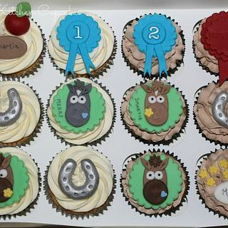 Pony Themed Cupcakes - Cake by Mandy Morris