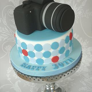 Canon Camera Birthday Cake - Cake by Isabelle Bambridge
