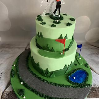 Anyone for golf?  - Cake by Roberta