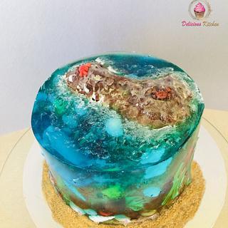 Ocean jelly cake - Cake by Emily's Bakery