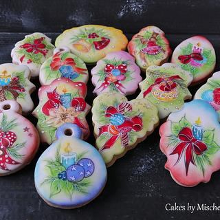 Hand painted christmas cookies.....