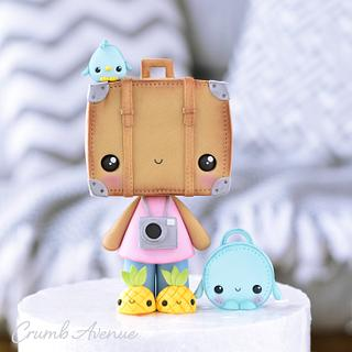 Suitcase Cake Topper