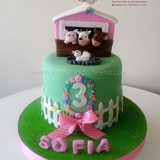 Torta Granja niña - Cake by Sweet Art Pastelería & repostería