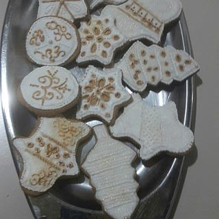 Gilded white Christmas Cookies