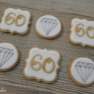 60th Wedding Anniversary Cookies