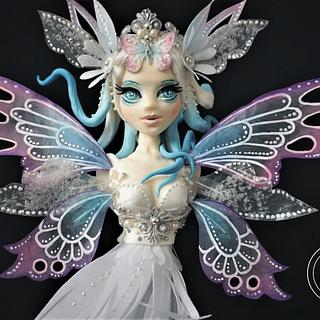 The Butterfly Princess - Cake Con International collaboration - Cake by Torty Zeiko