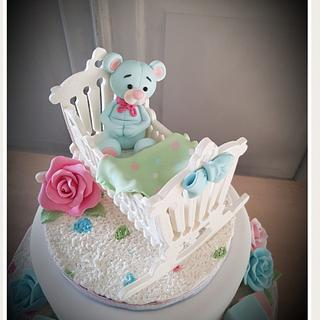 Gender reveal - Cake by Anneke van Dam
