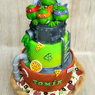 Ninja turtles cake - Cake by Lenka Kovarikova