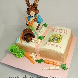Peter Rabbit Book Cake