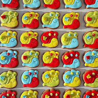 Snail cookies - Cake by simplyblue