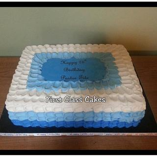 Ombre Petals cake - Cake by First Class Cakes