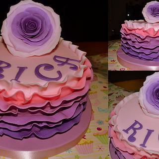ruffle cake - Cake by glenda