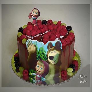 Masa and bear cake