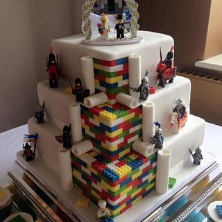 Knight Lego wedding cake