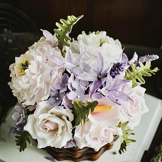 Gumpaste & rice paper flowers