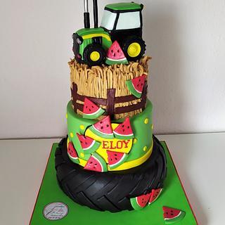 TARTA TRACTOR - Cake by Camelia