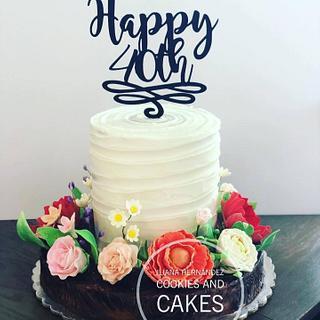 Flowers cake  - Cake by Iliana Hernandez