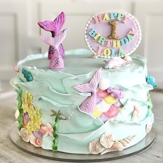 Mermaid Love - Cake by SweetArt Cake Studio