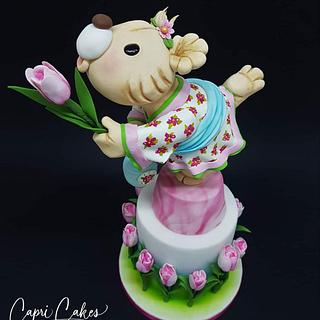 Dutchy Bear - Teddybear challenge Bakerswood - Cake by Claudia Kapers Capri Cakes