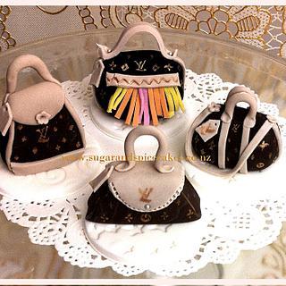 Louis Vuitton Mini Handbag Cupcake toppers - Cake by Mel_SugarandSpiceCakes