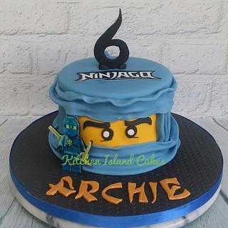 Blue Ninjago Cake