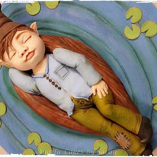Sleeping Elf - Cake by Angelic Cakes By Sarah