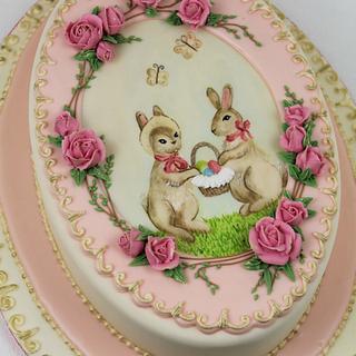 French Vintage Easter Cake