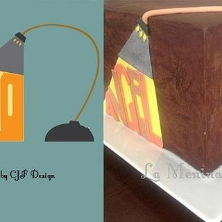 Concert Poster Inspired Cake Cube - Cake by Cristi