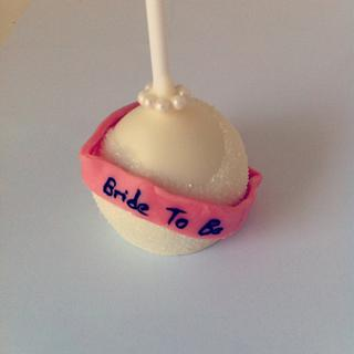 Bride to be cake pops