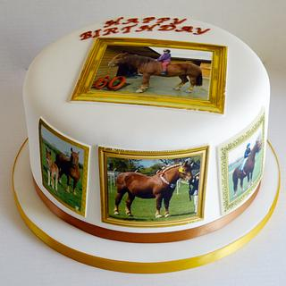 Suffolk Punch Horse edible image cake