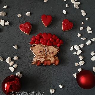 Handpaint teddy cookie