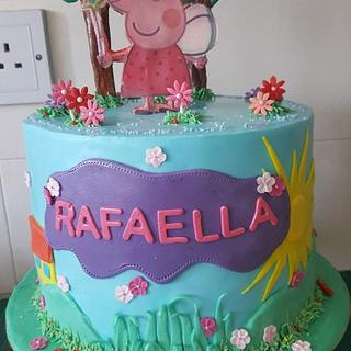 Peppa the pig - Cake by Miavour's Bees Custom Cakes