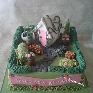 Garden themed 60th Birthday Cake