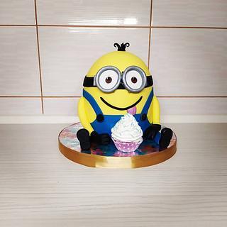 3d Minion cake - Cake by Tortalie