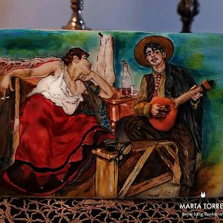 Fado - Traditional song for Portugal Wonders in Sugar  - Cake by The Cookie Lab  by Marta Torres