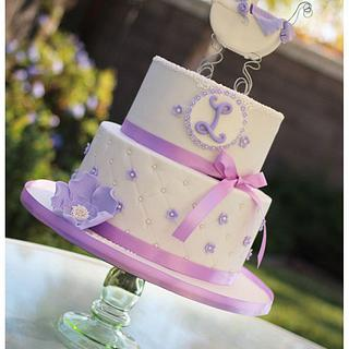 Lavender and white baby shower