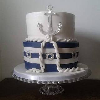 Naval baptism cake