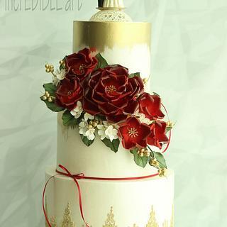 Rouge- Wedding Cake - Cake by Rumana Jaseel