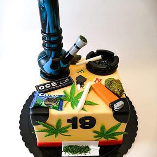 Cannabis - Cake by TartaSan - Damian Benjamin Button